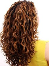 Carefree Kinky Curly 7 pcs Clip In Human Hair Extensions