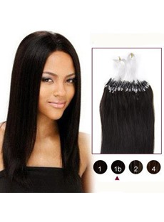 Natural Black(#1b) 100S Micro Loop Human Hair Extensions