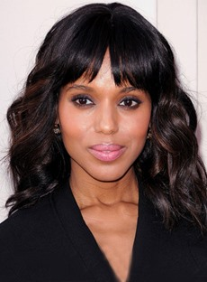 Trendsetting Highlights Hairstyle Kerry Washington Hairstyle Medium Wave 100% Human Hair 14 Inches Wig