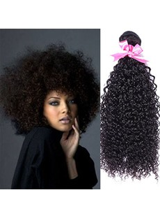 Human Hair Weave Black Women 100% Human Hair Kinky Curly Human Hair Extensions 1 PC