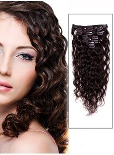 Remy Human Hair Curly 7PCS Clip in Human Hair Extensions