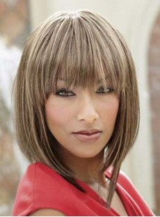Custom Hilary's Carefree Hairstyle Medium Straight 10 Inches Light Blonde Perfect Wig