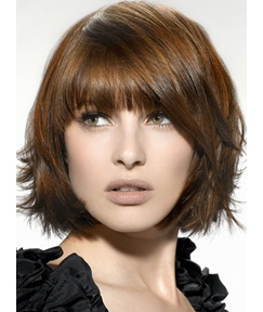 New Arrival Chic Medium Straight Light Brown Wig 8 Inches Custom Of Stars