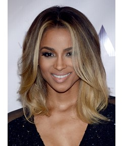 Ciara Medium Natural Straight Lace Front Human Hair Wigs 12 Inches