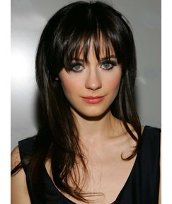 Latest Celebrity Hairstyle Classical Long Straight Hairstyle 18 Inches Synthetic Wig