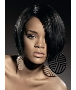 Rihanna Smart Bob Hairstyle Short Straight Capless Synthetic Hair 10 Inches