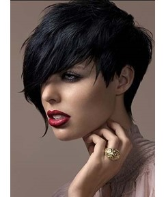 Short Hairstyle Synthetic Straight Hair Capless Wigs