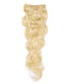 Remy Human Wavy 7PCS Clip in Hair Extensions