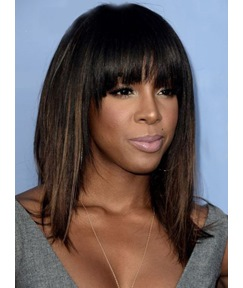 Kelly Rowland Medium Straight Capless Synthetic Hair Wig 14 Inches