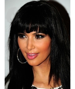 Kim Kardashian Custom Celebrity Hairstyle Medium Straight 14 Inches Wig