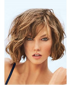 New Fashion Short Messy Wavy Cute Lace Front Wig 10 Inches 100% Real Human Hair