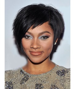 Premier Life Fabulous layered Short Straight Lace Wig 100% Real Human Hair Wig 8 Inches