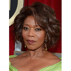 Alfre Woodard Short Wave Hairstyle Fluffy Natural Smooth Full Lace Wig 100% Real Human Hair 12 Inches