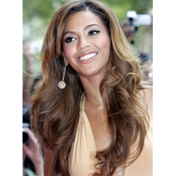 Beyonce Custom Amazing Hairstyle Long Loose Wavy Brown 22 Inches Lace Wig