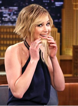 Jennifer Lawrence Bob Style 7 PCS Haarspange In Echthaar-Extensions