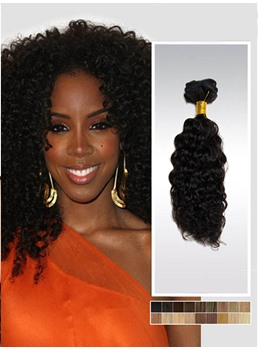 Human Hair African Curly 7PCS Clip in Hair Extensions