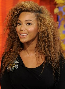 Beyonce Fashion Modern Lovely Long Curly Lace Front Wig 100% Real Human Hair 20 Inches