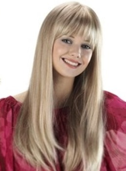 100% Real Human Hair Long Straight Blonde 20 Inches Wig