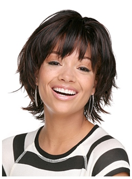 Stupendous Hairstyles For Thin Hair Round Face Wigsbuy Com Short Hairstyles For Black Women Fulllsitofus