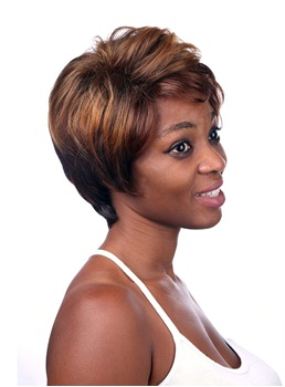 COSCOSS® Elegant Short Straight Layered Capless Synthetic Hair Wig 8 Inches