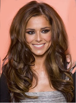 Cheryl Cole Custom Soft Charming Hand Tied 20 Inches Long Wavy Mixed Color Lace Wig