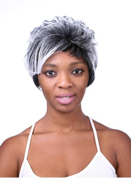 COSCOSS® Unique Short Wavy Capless Synthetic Hair Wig 8 Inches