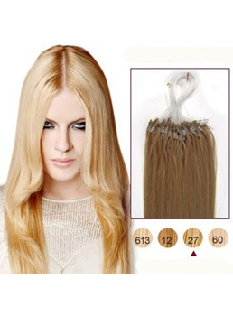 Strawberry Blonde(#27) 100S Micro Loop Human Hair Extensions