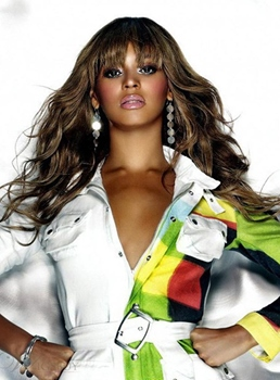 Beyonce Hairstyle Long Wavy Synthetic Hair Women Wig 18 Inches