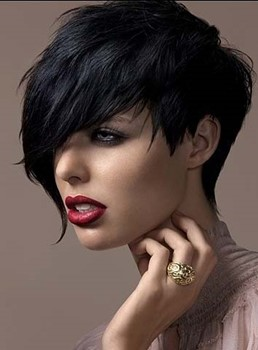 Custom Top Quality Natural Soft Bangs Cheap Short Pixie Hair Cut Synthetic Wig