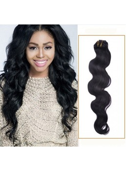 Wavy 7PCS Clip in Human Hair Extension 100g