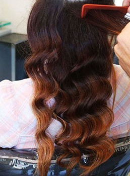 1/4/30 3 Tone Ombre Deep Wave Human Hair Weave 1 PC