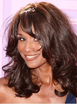 Glossy Attractive Beverly Johnson's Lovely Medium Curly Perfect Wig 100% Real Human Hair 14 Inches