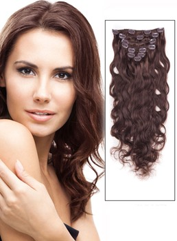 Wellige 7PCS Clip in Remy Echthaar Extensions