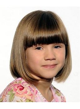 Pretty Short Straight Capless Synthetic Wig 10 Inches for Kids