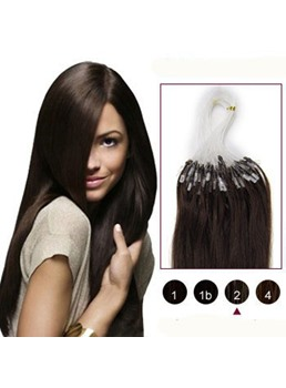 Dark Brown(#2) 100S Micro Loop Human Hair Extensions