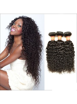 Kinky Curly non transformés # 1 b 100 % Human Hair tissage 1 pack
