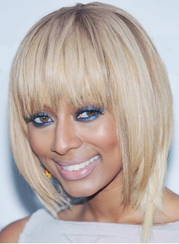 Keri Hilson Short Straight Synthetic Hair Capless Wigs 8 Inches