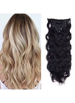 Clip In Human Hair Long Loose Wave 7 PCS Clip In Hair Extensions