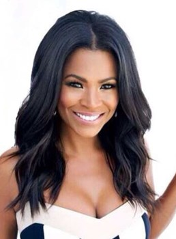 Nia Long Loose Wave Middle Parting Synthetic Lace Front Wigs 18 Inches
