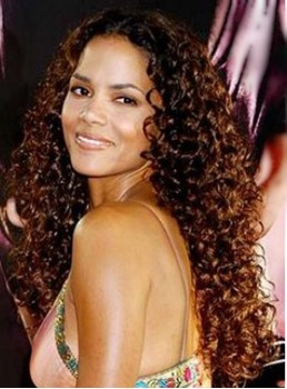 Halle Berry Curly Hair Full Lace Wigs 100% Human Remy Hair 26 Inches