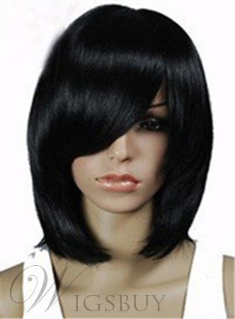 Fashion Medium Straight Capless 12 Synthetic Hair Wig 1822764