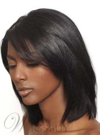 Medium Straight Lace Front Wigs Human Hair 12 Inches 10575742