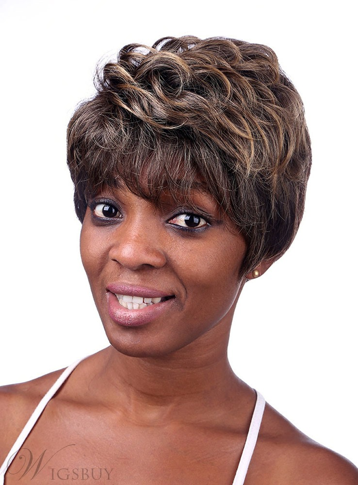 COSCOSS® Layered Short Wavy Capless Synthetic Hair Wig 8 Inches 12161195