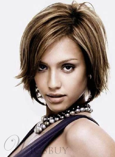 Boutique Short Straight # 8/613 Lace Front Wig 100% Human Hair 8 Inches