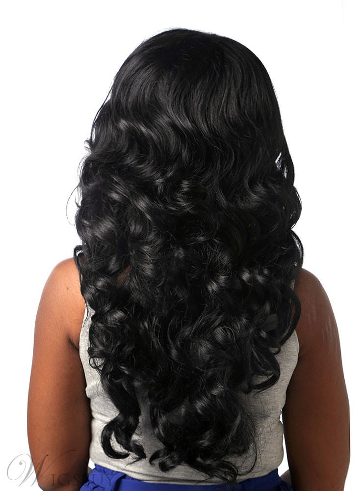 Coscoss 174 Long Deep Wave Capless Synthetic Hair Wig 24