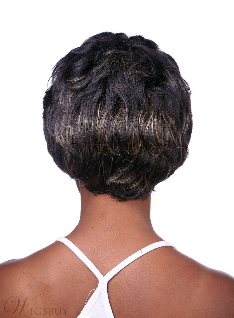 COSCOSS® Hot Sale Short Wavy Capless Synthetic Hair Wig 10 Inches