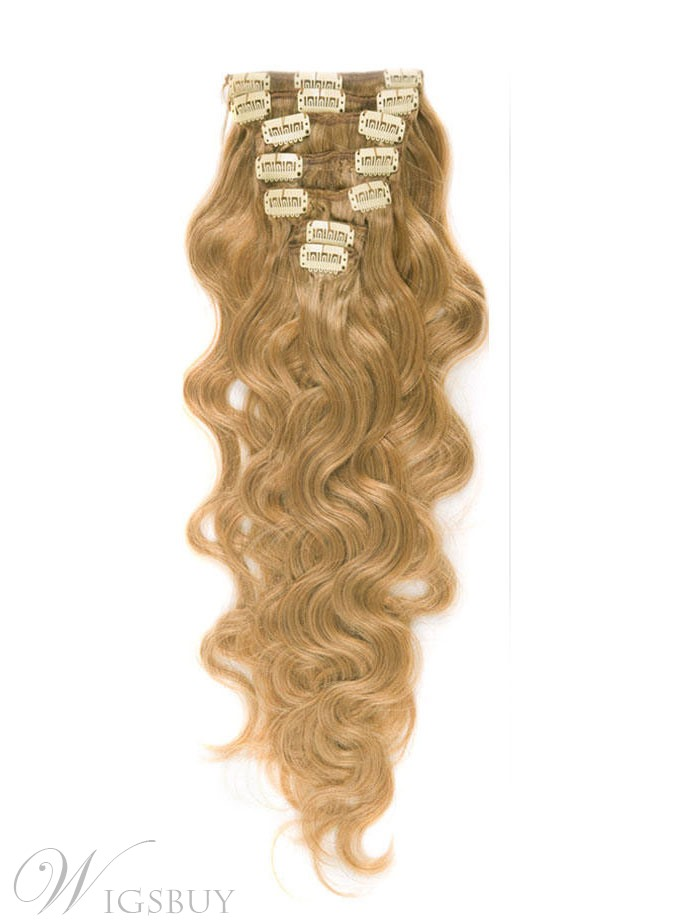 Remy Human Hair Wavy 7pcs Clip In Hair Extensions Wigsbuy