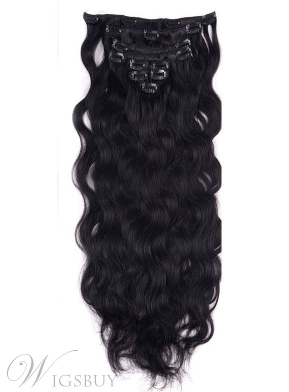 Clip In Remy Hair Long Loose Wave 7 PCS Clip In Hair Extensions