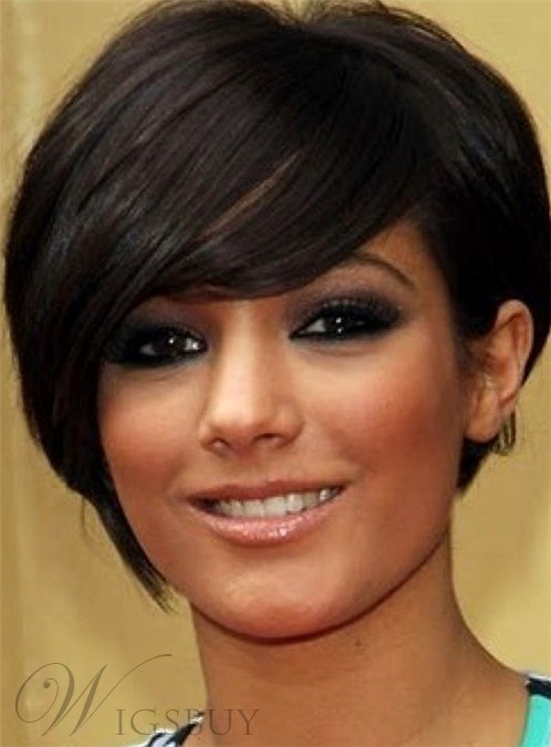 Sexy Ladies Most Popular Short Human Hair Capless Wigs 8 Inches