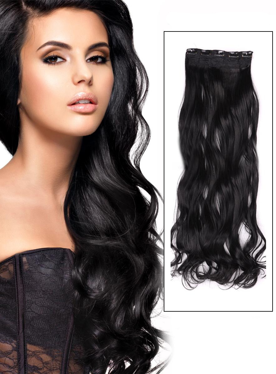Jet black 1 instant one piece body wave human hair clip in hair 80 jet black 1 instant one piece body wave human hair clip in hair pmusecretfo Choice Image